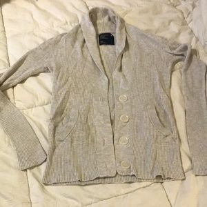 AEO American Eagle small waffle Button up cardigan